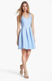 fit and flare wedding guest dress dresses cutout detail fit flare dress in blue chambray lyst
