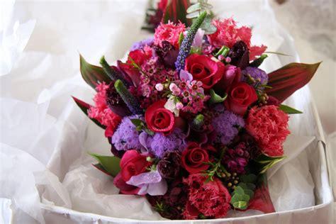 Hot Pink & Purple Wedding Bouquet