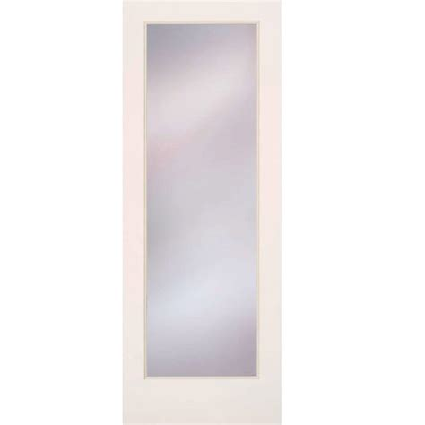 home depot interior glass doors feather river doors 24 in x 80 in privacy smooth 1 lite