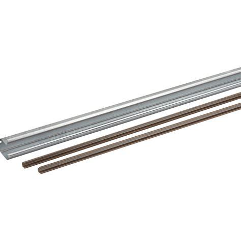 rail acier et plastique pour portes coulissantes hettich leroy merlin