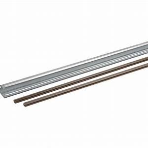rail acier et plastique pour portes coulissantes hettich With porte d entrée pvc avec reglette salle de bain led