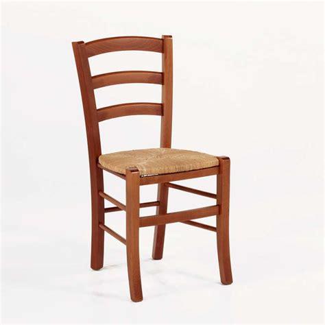 chaise rustique en bois et paille broc 233 liande 4 pieds