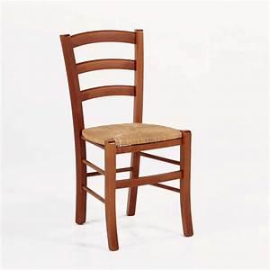 Chaise En Bois : chaise rustique en bois et paille broc liande 4 pieds ~ Melissatoandfro.com Idées de Décoration