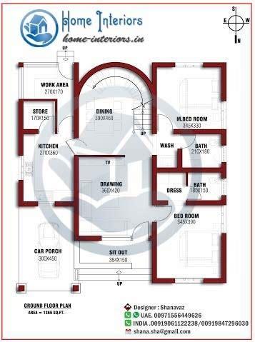 sq ft single floor home design  floor plan