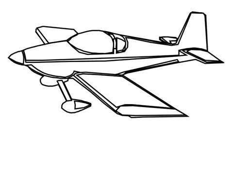 Airplane Clipart Coloring Page