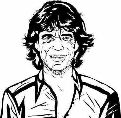 Mick Coloring Pages Clipart Jagger Rolling Stones