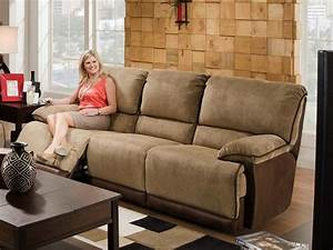 Contemporary living room with clayton power reclining sofa for Couch cover for reclining couch