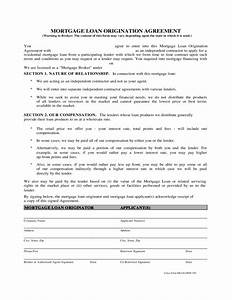 sample mortgage loan origination agreement free download With documents for mortgage broker