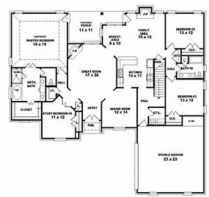 653964 two story 4 bedroom 3 bath french country style With four bed room house plans