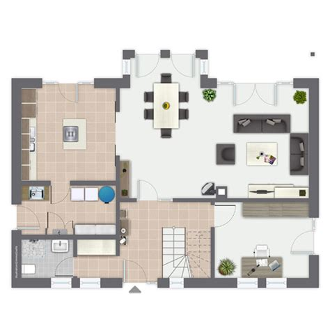 Beeindruckend Wohnzimmereinrichtung Dachgeschoss Einfamilienhaus Bergheim Ein Fertighaus Gussek Haus