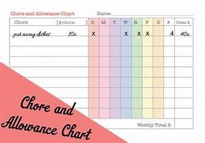 printable allowance chart printable maps With allowance chart template