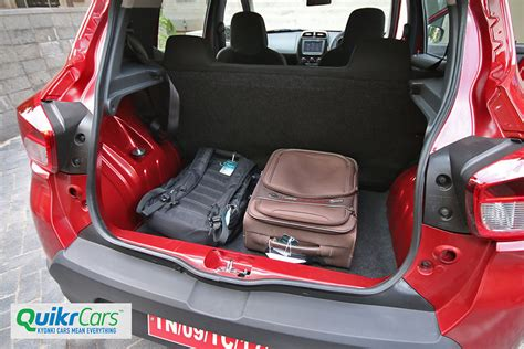renault kwid boot space renault kwid 1 0 litre review test drive