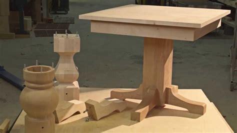wood pedestal table base kits new pedestal table kits youtube