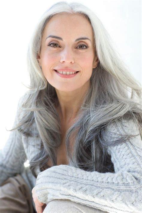Beautiful gray hair Yasmina Rossi this is how i want