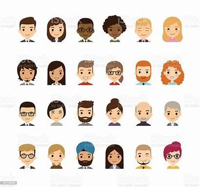 Avatars Cartoon Vector Adult Illustration Ethnicity African