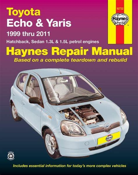 free online auto service manuals 2000 toyota ipsum parking system toyota echo yaris 1999 2011 haynes owners service repair manual 1620921367 9781620921364