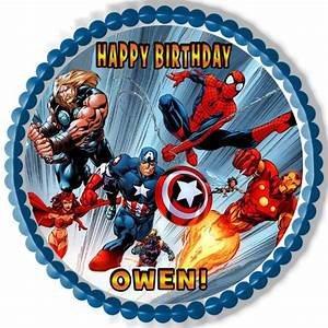 AVENGERS - Edible Cake Topper, Cupcake Toppers, Strips