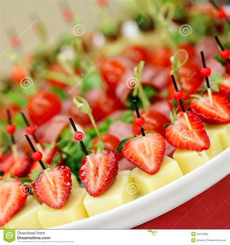 canape service appetizers gourmet food stock image image of