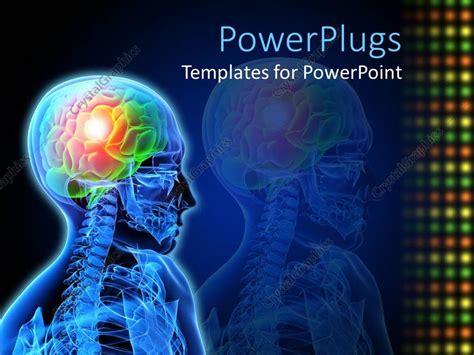 brain powerpoint templates free powerpoint template design neuron brain damage x description of brain issue 15854