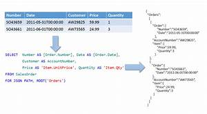 Format Query Results As Json With For Json  Sql Server