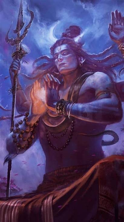 Shiva Lord Wallpapers Meditation Painting Iphone