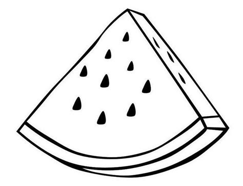 slice  watermelon coloring sheet fruit coloring page