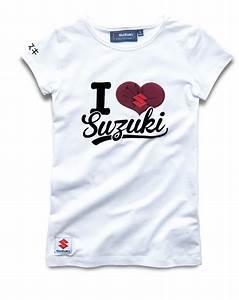 T Shirt Suzuki : genuine suzuki women 39 s i love suzuki t shirt 95 cotton 5 elastane white new ebay ~ Melissatoandfro.com Idées de Décoration