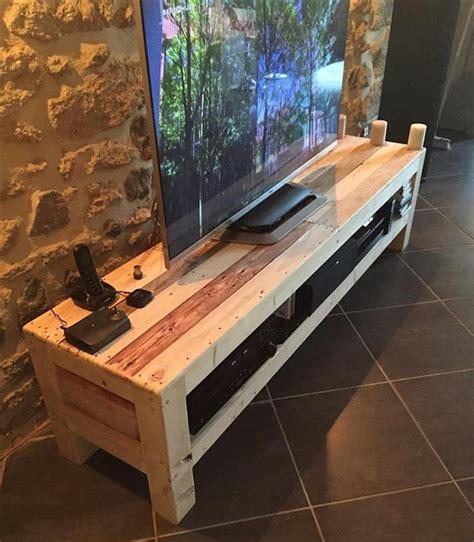 meuble tv palette le recyclage en chaine wooden pallet
