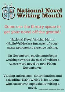 National write a novel month young writers