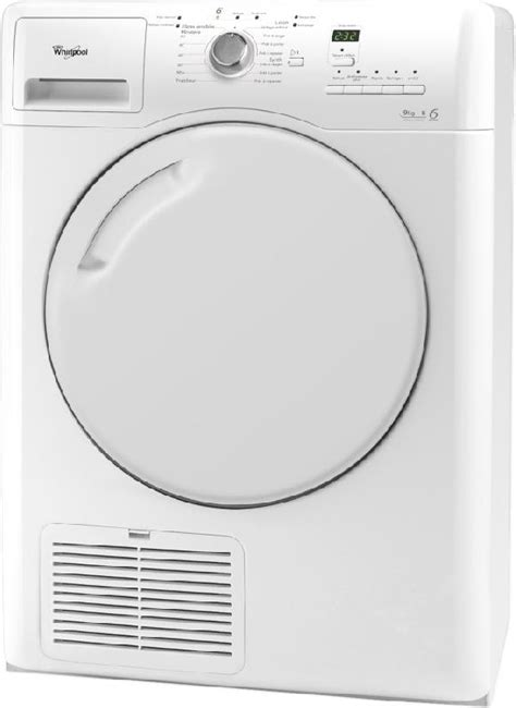 seche linge whirlpool a condensation whirlpool seche linge condensation 9kg azb9220 azb 9220