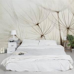 schlafzimmer tapete mit zarter pusteblume With markise balkon mit tapete mit pusteblume