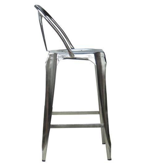 bureau industriel metal tabouret de bar avec dossier en acier style industriel