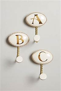ceramic letter hook anthropologiecom With marquee letter hook