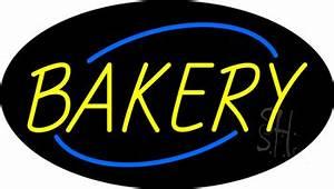 Yellow Bakery Animated Neon Sign