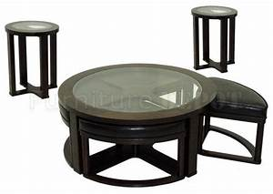 round glass coffee table with stools roselawnlutheran With round coffee table with chairs underneath
