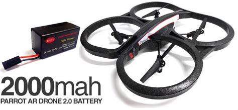 mah spare upgrade replacement battery  parrot ar drone  ebay
