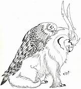 Coloring Gryphon Pages Line Drawings Designlooter Dragons 936px 15kb Deviantart sketch template