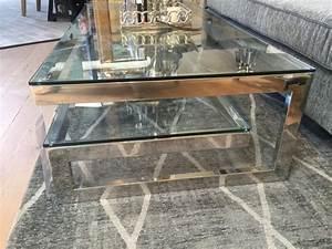 Couchtisch Metall Glas : couchtisch chrome glas metall tisch verchromt glas metall ~ Frokenaadalensverden.com Haus und Dekorationen