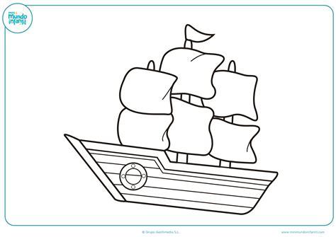 Barcos Para Dibujar Y Colorear dibujos de barcos para colorear mundo primaria