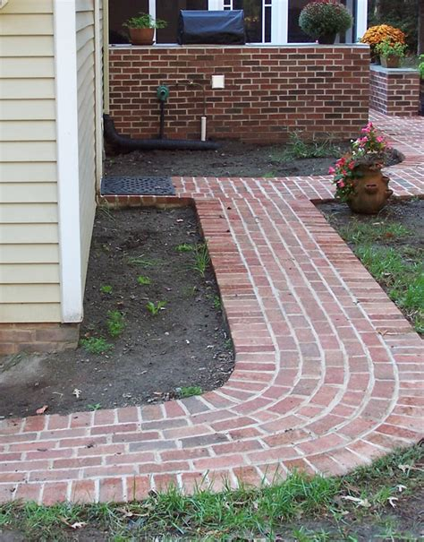 brick walkway patterns brick walkway 1 serenescapes