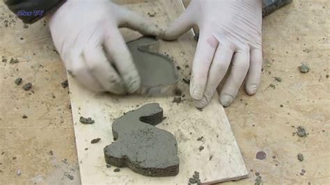 deko figuren aus beton fuer ostern hase selber basteln