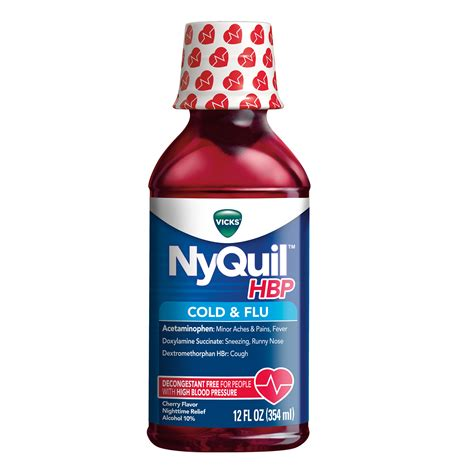 Nyquil Hbp Cold Flu Medicine Vicks