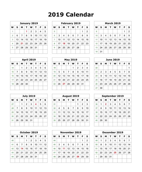 month calendar printable template holidays