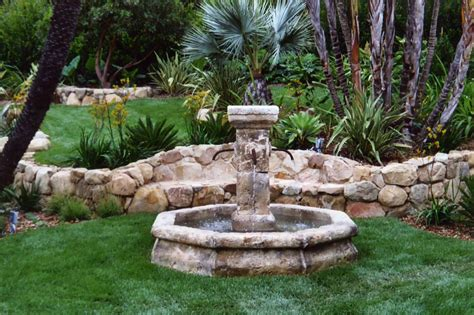 landscaping with water fountains fountain ideas garcia rock and water design blog