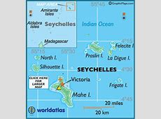 Seychelles Map Geography of Seychelles Map of