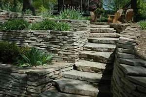 les 25 meilleures idees de la categorie mur pierre seche With superb amenagement de jardin exterieur 0 amenagement dun jardin en restanques aix jardin