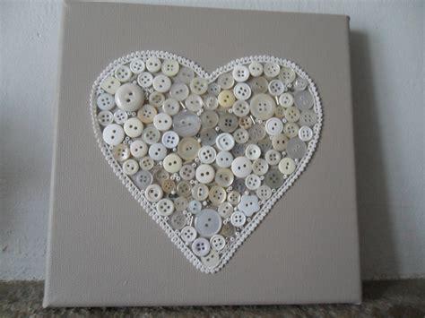cadre toile d 233 cor 233 avec coeur en bouton d 233 corations murales par creativemartine divers diy