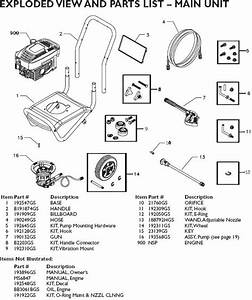 Snapper Pressure Washer Model 01807 Replacement Parts