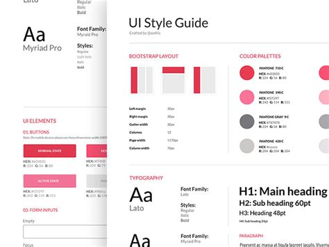 40 great exles of ui style guides web graphic design bashooka