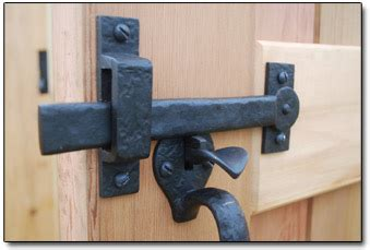 bronze gate double thumb latch